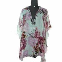 Printed Beaded Beachwear Kaftan