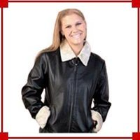 Ladies Fashionable Leather Jacket