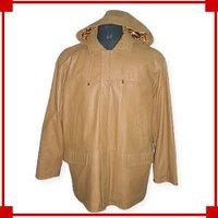 Men'S Hooded Leather Coat