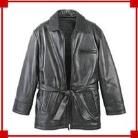 Men'S Leather Coats With Belt
