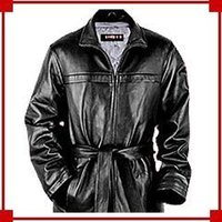 Men'S Leather Measton Coat