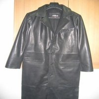 Men's Leather Overcoat