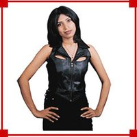 Ladies Leather Lily Vest