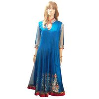 Designer Blue Anarkali Suit