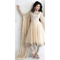 Anarkali Cream Suit