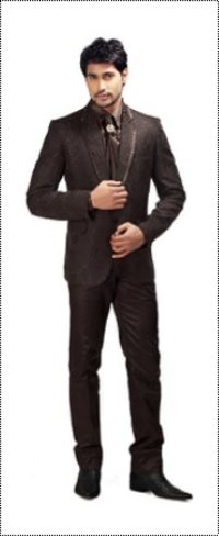 Men'S Coffee Brown Suit