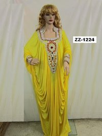 Ladies Yellow Kaftan