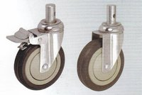 Double Brake Rubber Series Caster Wheel