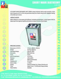 Shortwave Diathermy-500 Watt(Floor Model)