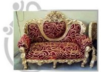 Golden Carved Wedding Throne Sofa