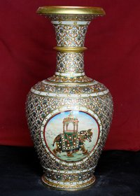 Marble Gold Painting Pot