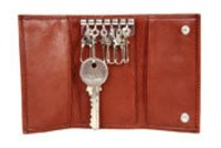 Brown Leather Key Holder