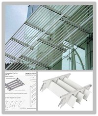Aluminium Sunshades For Roof Louver