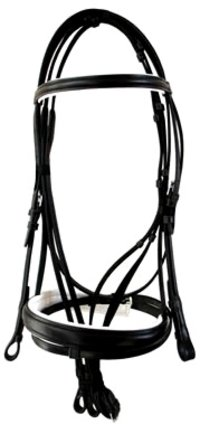 Snaffle Bridle With Flash Noseband