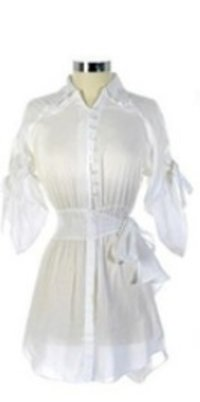 Ladies White Party Wear Dress