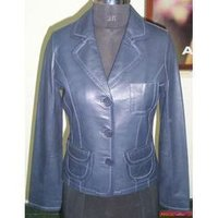 Ladies Leather Jacket Coat