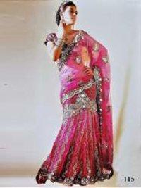 Ladies Embroidered Lehenga Sarees