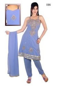 Ladies Sleeveless Churidar Suits