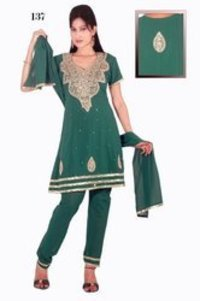 Ladies Trendy Embroidered Churidar Suits