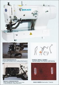 Straight Button High Speed Electronic Sewing Machine - Hbh-1790