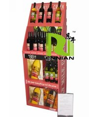 Various Bottle Cardboard Floor Display Stand