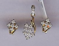 18k Diamond Pendant Set
