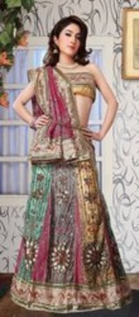 Multi Colored Lehenga Saree