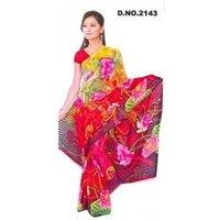 Digital Print Fashionable Saree