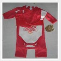 Kids Red Frock Suits