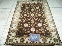 Brown Ivory Rugs (4 X 6)