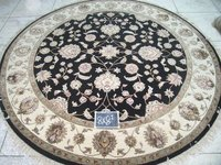Black Ivory Round Rugs (8x8)