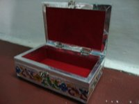 White Metal Jewellery Box