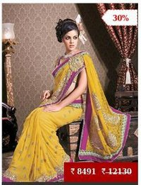 Georgette Wedding Bridal Saree