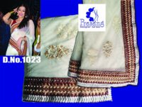 Aishwarya Rai Golden White Net Saree