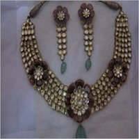 Diamond Jadau Polki Set (Only Gold) RAJ 12