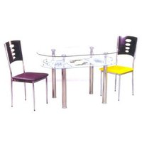 Metal Dining Table Set