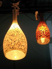 Bottle Shaped Hanging Lamps