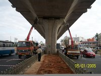 Truck Mounted Cranes For Bridge Construction Project