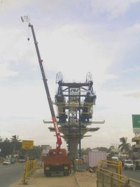 Truck Mounted Crane For Flyover Project