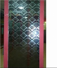 Acid Etched Mirror Glass