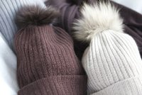 Cashmere Caps With Fur