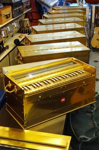Gold Finish Harmonium