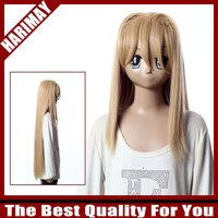 Long Yellow Costume Party Wig
