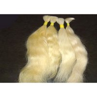 White Remy Single Drawn Hairs