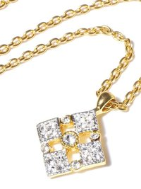 Gold Chain Pedent Set