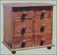 Six Drawer Wooden Small Spice Box