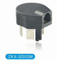 Sweden RJ11 Telephone Adaptor Plug to Jack SD02M