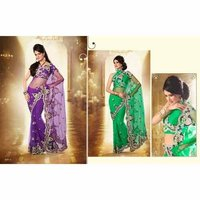 Designer Full Net Sarees