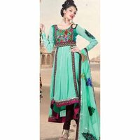 Designer Georgette Churidar Kameez