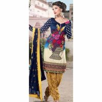 Embroidered Georgette Churidar Kameez